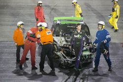 Denny Hamlin, Joe Gibbs Racing Toyota : Crash