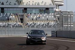 Sebastian Vettel drives the Sochi Autodrom