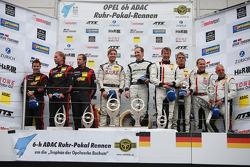 Podium: race winners Thomas Jäger, Jan Seyffarth, second place Norbert Siedler, Uwe Alzen, Mike Stur