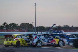 #31 Olsbergs MSE Ford Fiesta ST: Joni Wiman, #34 Volkswagen Andretti Rallycross Volkswagen Polo: Tanner Foust