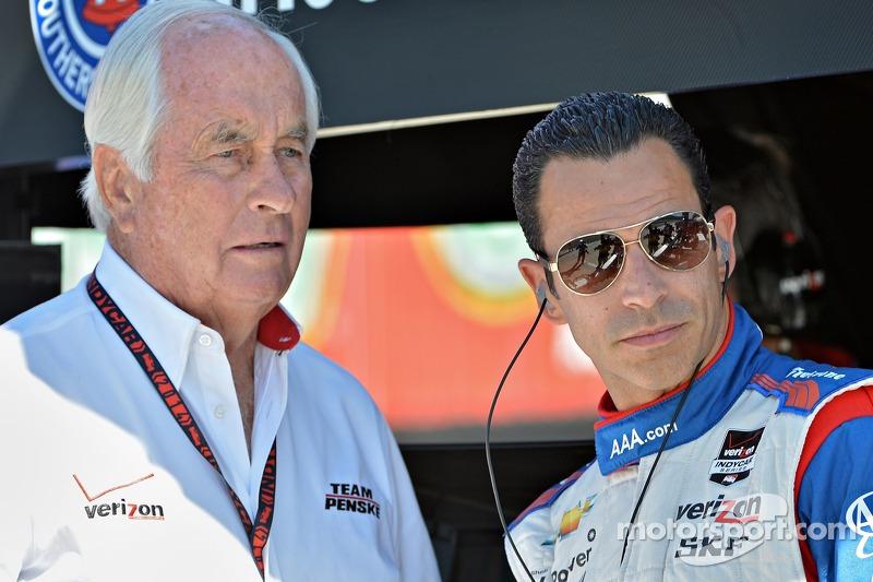 Helio Castroneves, Penske Racing Chevrolet e Roger Penske