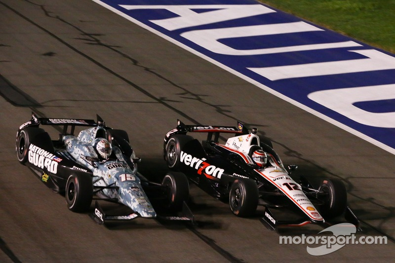 Graham Rahal, Rahal Letterman Lanigan Racing Honda and Will Power, Penske Racing Chevrolet