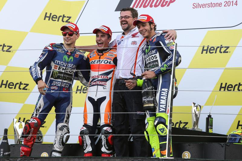 #17 Podium : Marc Márquez, Jorge Lorenzo, Valentino Rossi