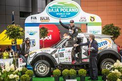 Baja Poland podium: Martin Kaczmarski, Tapio Suominen