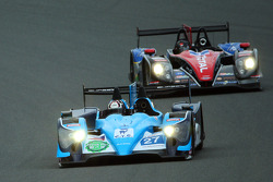 #27 Eurasia Motorsport Oreca-Nissan: Jun Jin Pu, John Hartshorne, Richard Bradley and #1 Oak Racing