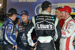 Kasey Kahne, Hendrick Motorsports Chevrolet con i compagni di squadra Jeff Gordon, Jimmie Johnson, D