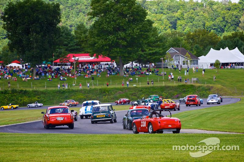1961 Austin-Healey Sprite at race start