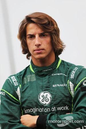 Roberto Merhi, pilota addetto ai test del Caterham F1 Team