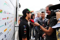 Sergio Perez, Sahara Force India F1 ve medya