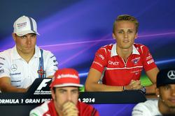 Max Chilton, Marussia F1 Team alla conferenza stampa FIA
