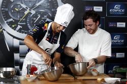 Pranzo Casio Edifice Launch alla Red Bull Energy Station, Daniel Ricciardo, Red Bull Racing con Tom