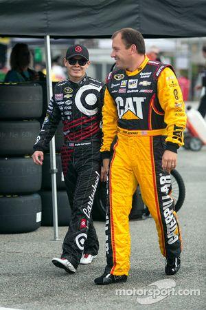 Kyle Larson and Ryan Newman