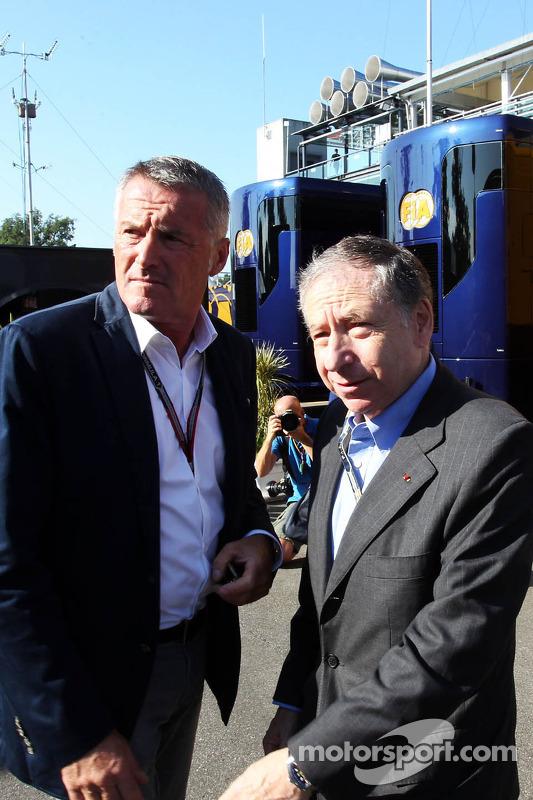 (Esquerda para direita): Marcello Lotti, ex-gerente geral do WTCC, com Jean Todt, presidente da FIA