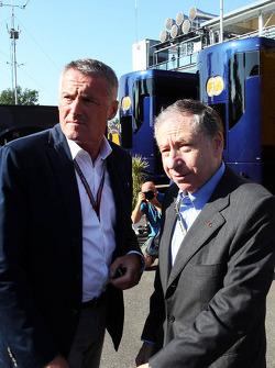 (从左至右): 马切洛·洛蒂, 前WTCC世界房车锦标赛总经理 与让·托德, FIA主席