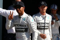 Pole position Lewis Hamilton, Mercedes AMG F1 W05, 2ème Nico Rosberg, Mercedes AMG F1 W05