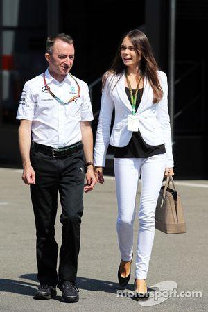 Paddy Lowe avec sa femme Anna Danshina