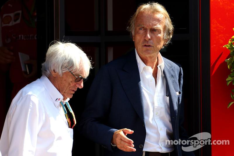Bernie Ecclestone ve Luca di Montezemolo, Ferrari Başkanı