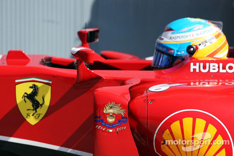 Fernando Alonso, Ferrari F14-T en parc ferme