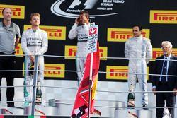 Podium: Lewis Hamilton, Mercedes AMG F1, 1er ; Felipe Massa, Williams, 3ème