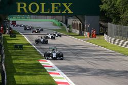 Nico Rosberg au départ de la course