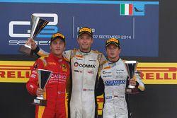 Podio: El segundo lugar Stefano Coletti, ganador Race Jolyon Palmer, el tercer lugar Stephane Richel
