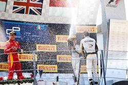 Podium: Second place Stefano Coletti, Race winner Jolyon Palmer, third place Stephane Richelmi