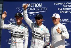 Pole position Lewis Hamilton, 2ème Nico Rosberg, 3ème Valtteri Bottas