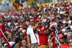 Fans sur le circuit