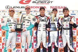 GT500 winners Kazuki Nakajima, James Rossiter, GT300 winners Akira Iida, Hiroki Yoshimoto, Shinya Sato