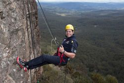 Craig Lowndes at the Blue Mountains west of Sydney