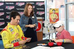 Joey Logano, Team Penske Ford visits the Children's Hospital in Birmingham, Ala., as part of Chase across North America