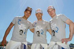 Andreas Mikkelsen, Sébastien Ogier, Jari-Matti Latvala