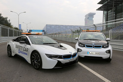 The BMW i8 and BMW i3 safety vehicles