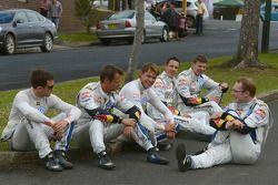 Volkswagen pilotos descansam