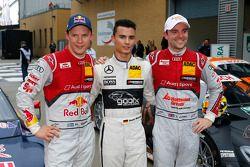 Polesitter Pascal Wehrlein, second place Mattias Ekström, third place Jamie Green