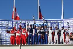 LMGTC podium: Olivier Beretta, David Markozov, Anton Ladygin