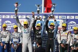 LMP2 podium: Gary Hirsch, Pierre Ragues, Christian Klien