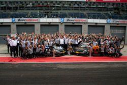 Segundo lugar Christian Vietoris, Mercedes AMG DTM-Team HWA DTM Mercedes AMG C-Coupé e vencedor Pasc