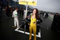 Grid girl of Bruno Spengler, BMW Team Schnitzer BMW M4 DTM
