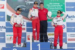 Podio: vincitore Lance Stroll, secondo posto Takashi Kasai, terzo posto Brandon Maisano