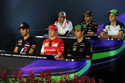 FIA-Pressekonferenz: Adrian Sutil, Sauber; Pastor Maldonado, Lotus; Marcus Ericsson, Caterham; Jean-