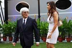 Bernie Ecclestone, y su esposa Fabiana Flosi