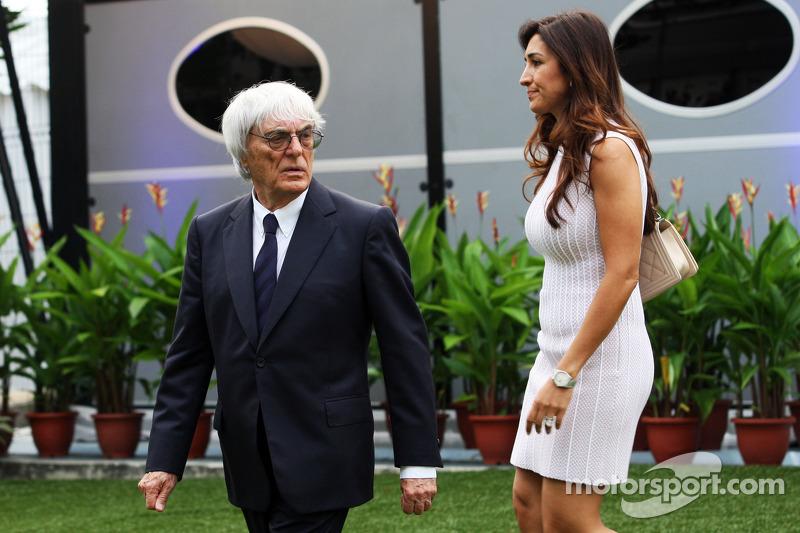 Bernie Ecclestone avec sa femme Fabiana Flosi