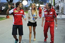 Fernando Alonso, Ferrari, mit Freundin Dasha Kapustina