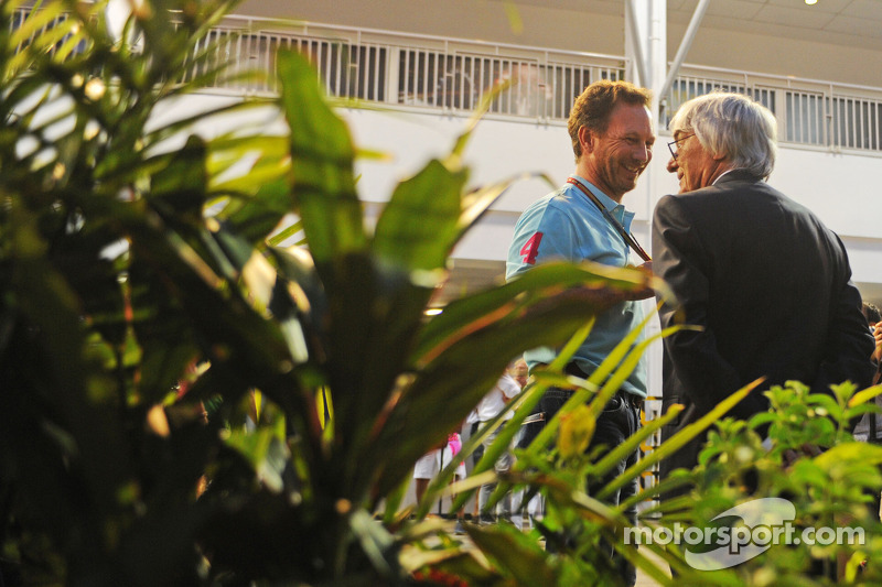 Christian Horner avec Bernie Ecclestone