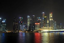 Cena Cingapura prédio