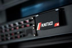Detalle de radio de equipo de Ferrari