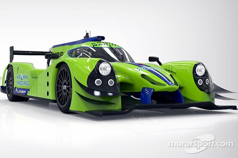 De Krohn Racing Ligier JS P2 Judd waarmee in 2015 geraced gaat worden