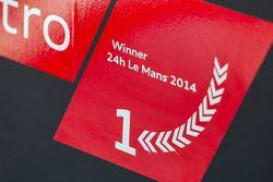 Le Mans 2014 winner decal on the #2 Audi Sport Team Joest Audi R18 E-Tron Quattro