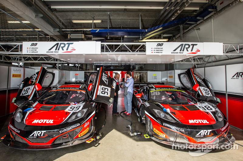 99 ART Grand Prix McLaren MP4 12C Andy Soucek Kevin Korjus Estre 98 Gregoire Demoustier Alexandre Prmat